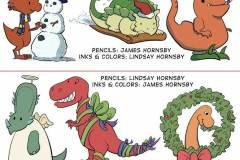 2010 Christmas Dinosaurs