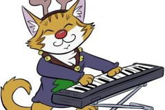 Internet Christmas Cats :Keyboard Cat